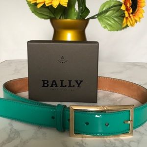 💥CLEARANCE💥 Auth. Bally Patent Leather Belt S.